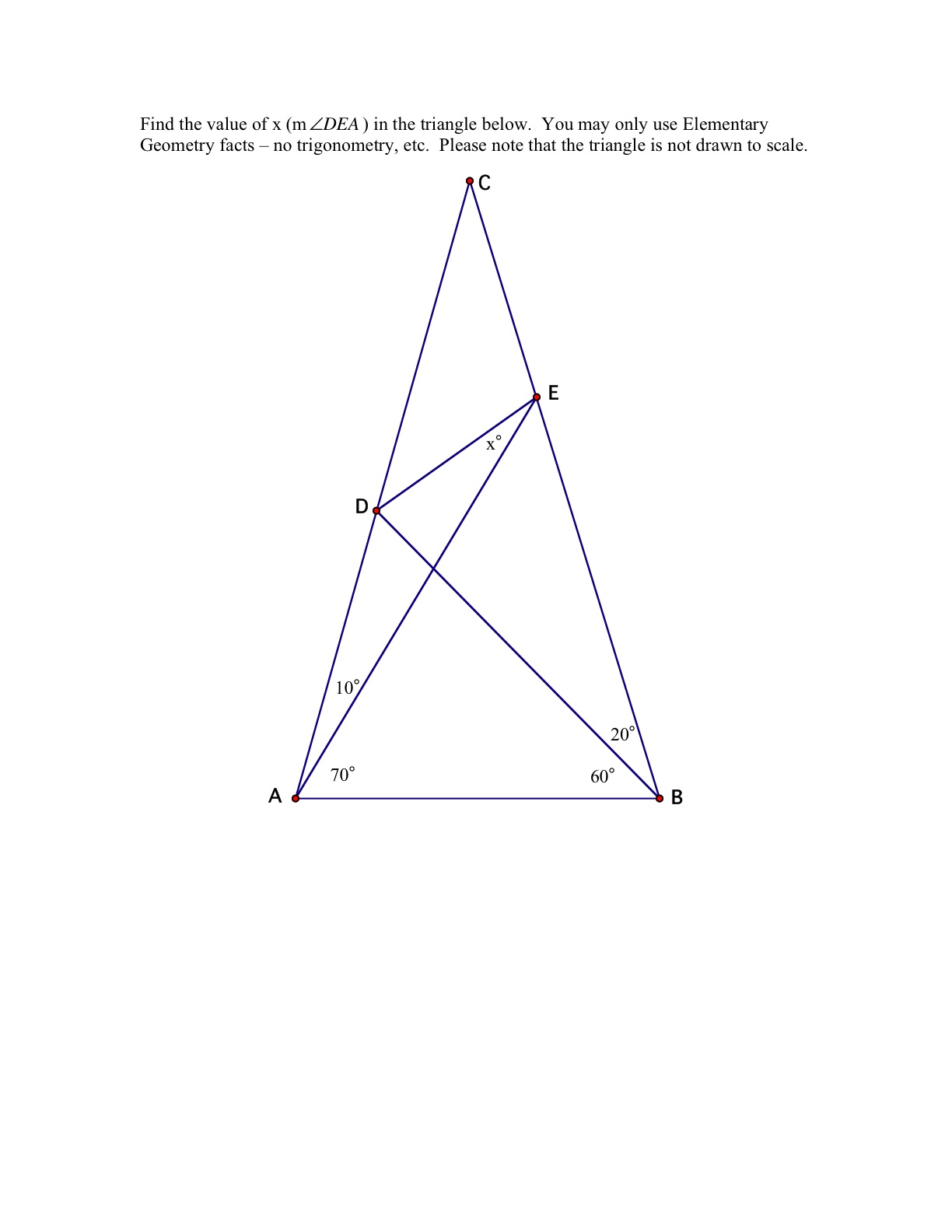 the world s hardest easy geometry problem musings on math